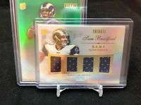 2010 TOPPS TRIBUTE SAM BRADFORD ROOKIE RC QUAD-JERSEY ST. LOUIS RAMS 9/45+/50 Bs