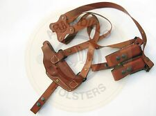 Armadillo Tan Leather Horizontal Miami Vice Shoulder Holster for Beretta f92/f96
