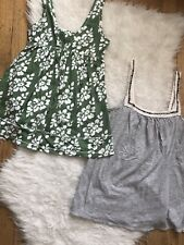 2 PC LOT HOLLISTER ABERCROMBIE & FITCH A&F TANK TOP  / CAMI BUNDLE ~SIZE SMALL