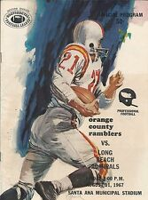1967 Long Beach Admirals Continental Football League Program - CoFL CFL #FWIL