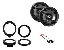 "NEW PIONEER 6.5"" CAR STEREO AUDIO SPEAKERS W/ DOOR MOUNTING BRACKETS & HARNESS"