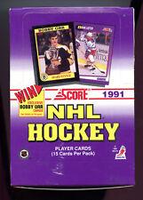 1991-92 Score Hockey American Box 36 Packs Per Box Look For Bobby Orr Autos!