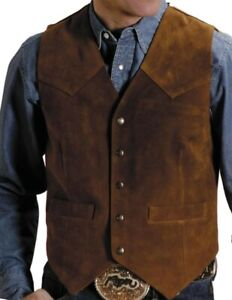 Roper Mens Big and Tall Action Leather Vest