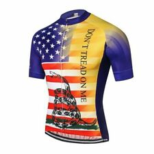 Don't Tread On Me USA Flag Cycling Jersey mens team cycling Short Sleeve Jersey