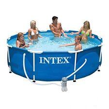Intex 28202 piscina frame 305x76 cm rotonda con telaio pompa filtro e dvd di mon