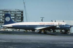 35mm Aircraft Slide Tampa Colombia HK-1276 Douglas DC-6 1977