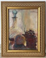 19th Century Antique Oil French Impressionism Painting Still Life Paul AUDRA