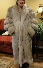 Beautiful Full Length Canadian Lynx Fur Coat *Fits Med - X- Large