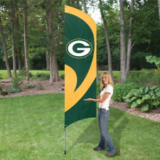 Green Bay Packers Tall Team Flag 8.5ft Flag w 11.5ft Pole NFL. Tall Team Swooper