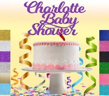 Custom Personalised Glitter Cake Topper Birthday Party Decoration Baby Shower