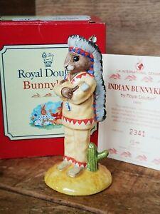 Royal Doulton Indian Bunnykins DB202 - Boxed / Certificate.