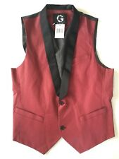 $49 G By Guess Men's Raffi Coated Vest In Red Size L