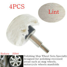 4xLint Style Polishing Buffing Pad Mop Wheel Drill Kit Aluminum for Car Polisher
