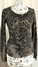 MONSOON Black Lace Print Cardigan SteamPunk Burlesque, Medium, GREAT CONDITION