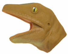 Soft Rubber Realistic 6 Inch Lizard Hand Puppet (Orange)