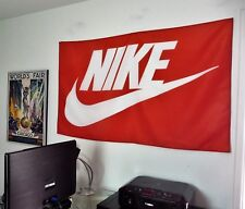 Nike HUGE 3x5 BANNER red fabric poster store sign advertising tapestry flag