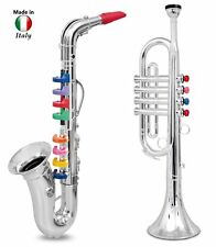 2 Kids Wind Instruments Saxophone Sax & Trumpet Music Beginner Learning Learn