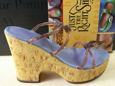 Just The Right Shoe Cork Wedge #25093 by Raine - Mint in Box with Paperwork