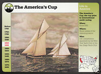 THE AMERICA'S CUP Boat Sailing 1886 Race History GROLIER STORY OF AMERICA CARD