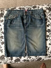 7 for all mankind denim skirt size 28