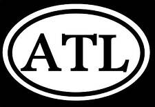 ATL STICKER ATLANTA RAP DIRTY SOUTH JDM SOUTHERN GEORGIA USA BULLDOG FALCONS