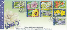 Vanuatu 2006 FDC Tropical Flowers Definitives International 8v S/A Set Cover