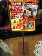 Tisch Aufsteller  aus Alu  für Einzelhandel + Gastro ca. 66 cm hoch Neu