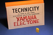 YAMAHA ELECTONE - PLASTIC KNOB SLIDE ( YELLOW )  FOR ELECTONE ORGANS - TESTED