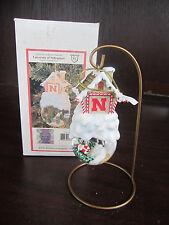 U Of NEBRASKA Cornhuskers Home Sweet Home Globe Ornament NEW in box CHRISTMAS