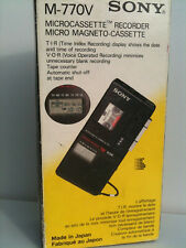 Sony M-770V Microassette Recoder Voice Recorder Dictaphone Micro Magneto in Box
