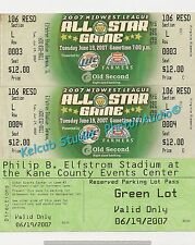 2007 Midwest League ALL STAR Game REPRO Tickets CLAYTON KERSHAW Justin Turner