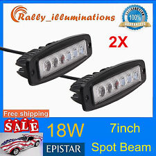 2x18W 7INCH SPOT BEAM LED WORK LIGHT BAR DRIVING OFF ROAD FOG RLY