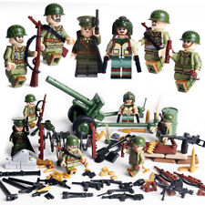 WWII US Soldiers Mini Figures Military USA American WW2 War Set Fit Lego