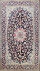 Semi Antique Floral Najafabad Area Rug Handmade Oriental NAVY BLUE Carpet 7'x10'