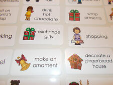 20 Christmas Verbs Picture Word Flashcards. PreK- 1st grade ELA and Holiday Fla