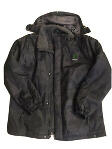 Monster Energy Hooded Jacket/Coat Black Men's Size XL *Athlete Only* NEW!