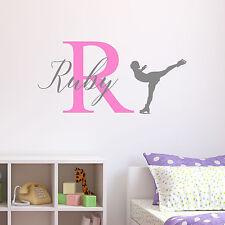 Personalised Ice Skating Wall Sticker Wall Decal Childrens Kids Nursery Bedroom