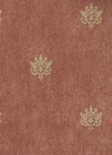 Scattered Gold Medallions on Mottled Rust Background Wallpaper 31267S