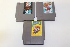 Super Mario Bros Brothers 1 2 3 Duck NES Nintendo Original Game Cartridges ONLY