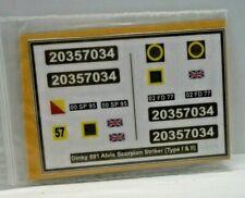 Dinky 691 Alvis Scorpion Striker (Type l & ll) stickers