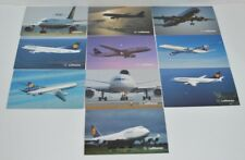 Lufthansa Postcards - Lot of 10 Post Cards A310,A320,A340,DC-10,737,747 Germany