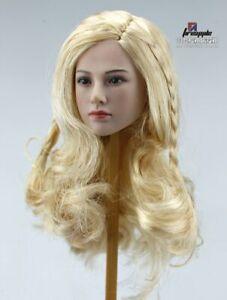 "TBLeague 1/6 Scale Tariah Silver Valkyrie Head Sculpt Blond Hair Fit 12"" Figuere"