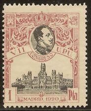 ESPAÑA Edifil 307** Mnh  1 Peseta Carmín Congreso UPU  1920   NL840