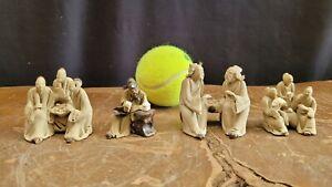 Mini Mudman, Miniature,  mudman figurine for Bonsai Set of 4