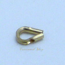 14K Gold Filled 3.5mm 10pcs. Thimble Wire Guard Protectors Findings