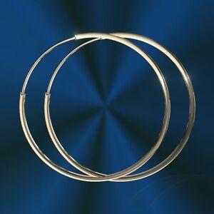 Moderne Damen Ohrringe Creolen, 925 Silber, Durchmesser 50 mm