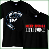 MISSION IMPOSSIBLE Elite Force Action Movie Black T-Shirt TShirt Tee Size S-3XL