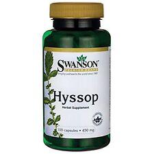 SWANSON PREMIUM Hyssop 450mg 100 Capsules