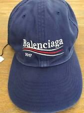BRAND NEW Balenciaga Logo baseball cap Blue 2017 campaign bernie embroidered 162f3dfd7e55