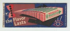 [71193] VINTAGE WRIGLEY'S SPEARMINT CHEWING GUM EMPTY MATCH BOOK COVER